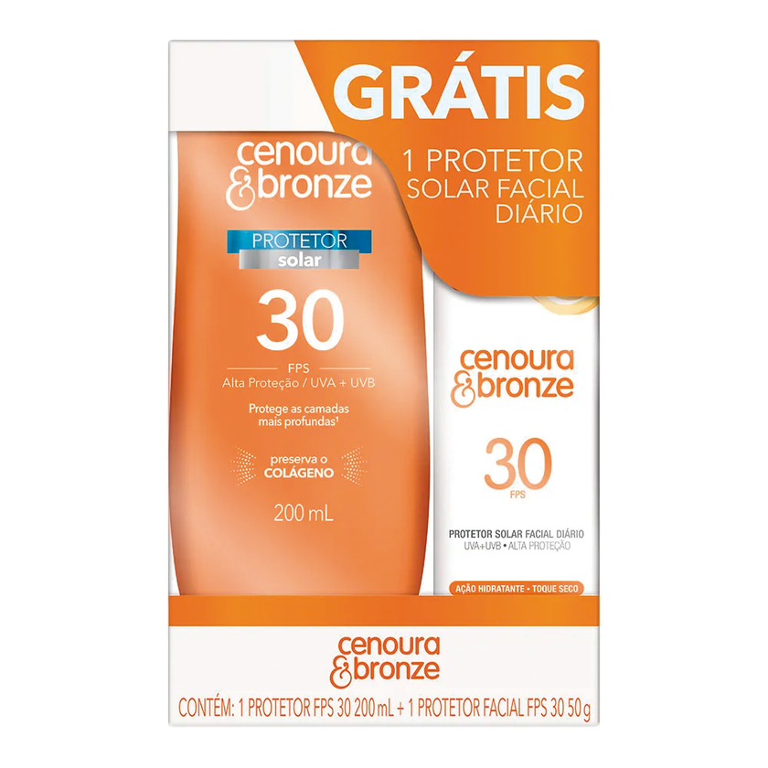 CENOURA BRONZE FPS 30 200ML+ FACIAL FPS30