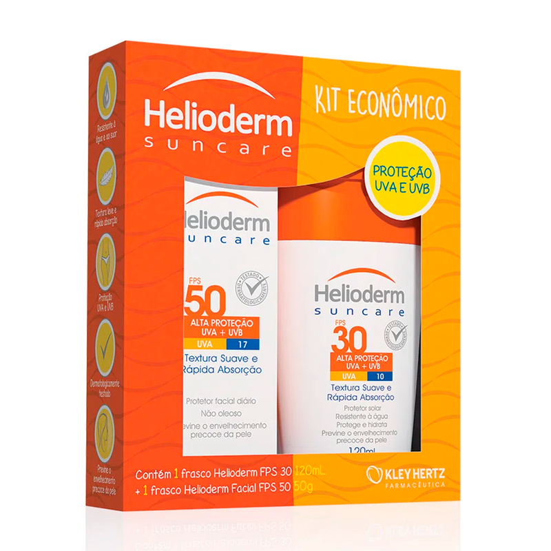HELIODERM KIT FPS30 120G+ FACIAL 50 50G