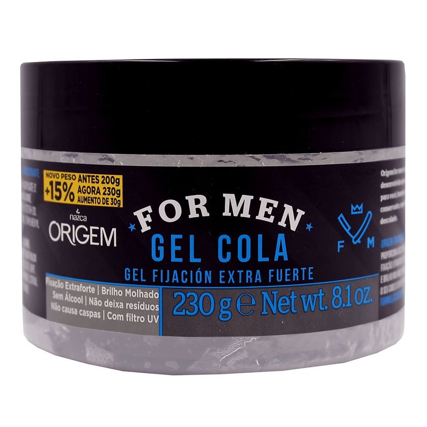 ORIGEM FOR MEN GEL COLA EXTRAFORTE  230G