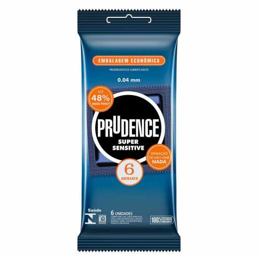 PRESERVATIVO PRUDENCE SUPER SENSITIVE C/6