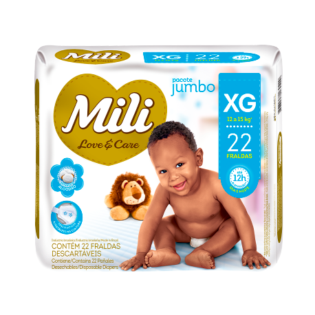 FRALDA MILI LOVE CARE XG C/22