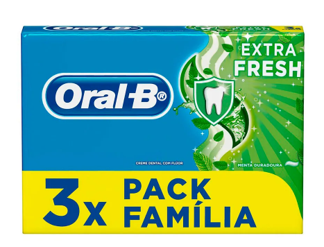 CREME DENTAL ORAL B EXTRA FRESH 70G PACKP C/3